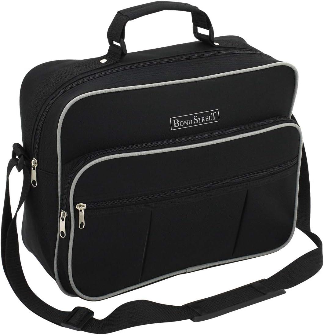 schwarz Hand Luggage Schwarz Black Polyester BondStreet Flugumh/änger querformat 35 cm 11 liters