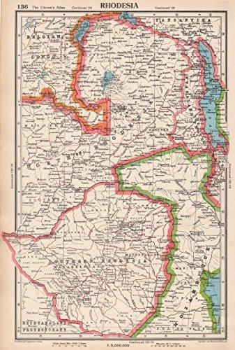 RHODESIA. Southern/Northern Rhodesia. Zimbabwe. Zambia ...