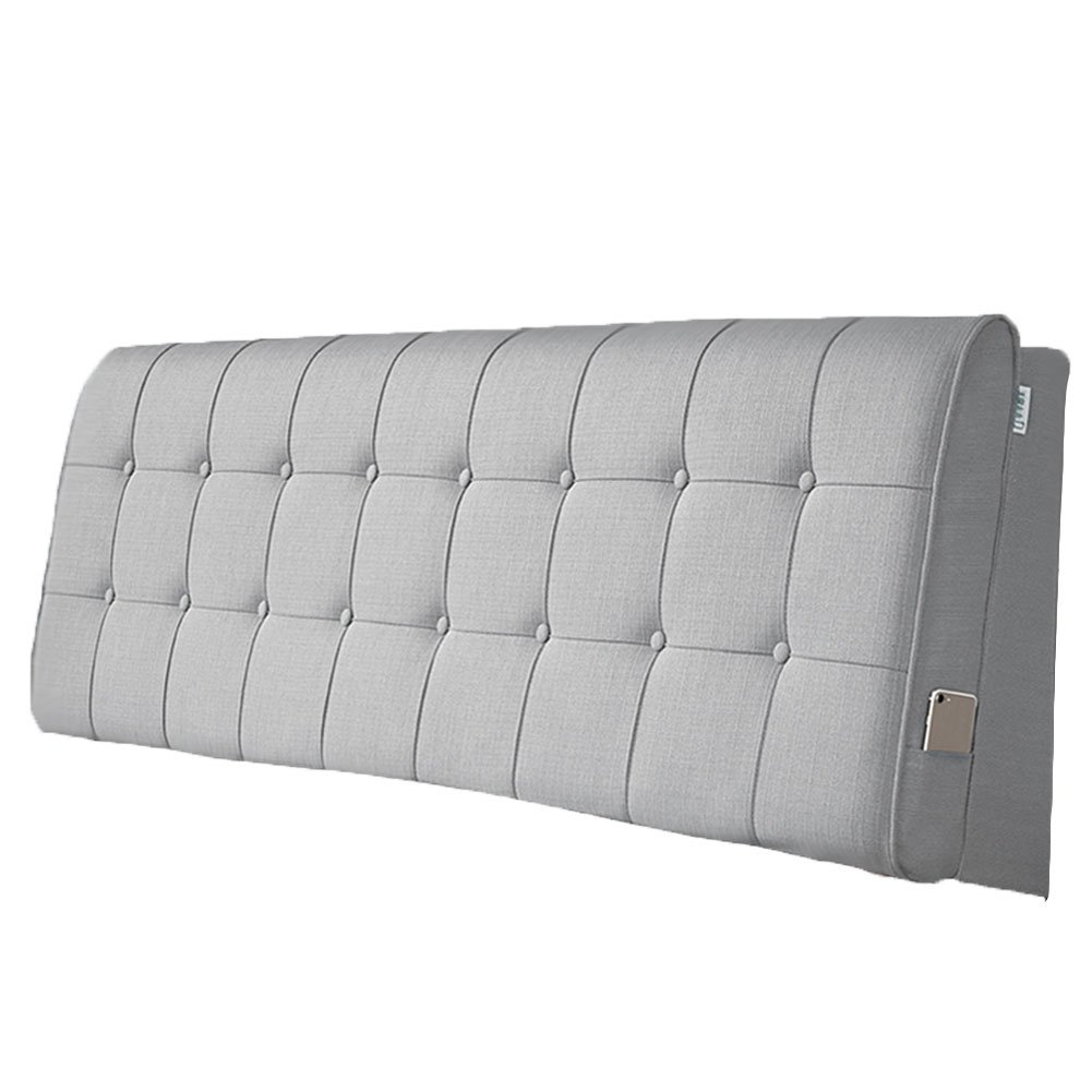 LIANGLIANG クッションベッドの背もたれ 二人の特別な通気性の多機能ベッドサイドボードクロス付き、5サイズ、13色 (色 : Gray, サイズ さいず : 150x60x10cm) B07FRM2K6V 150x60x10cm|Gray Gray 150x60x10cm