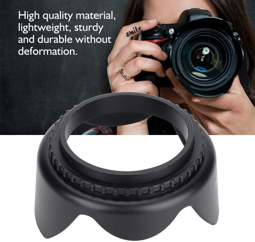 Vbestlife Camera Lens Hood Cover Shade 49-82mm for Lotus Flower Type 58mm Camera Lens Accessory