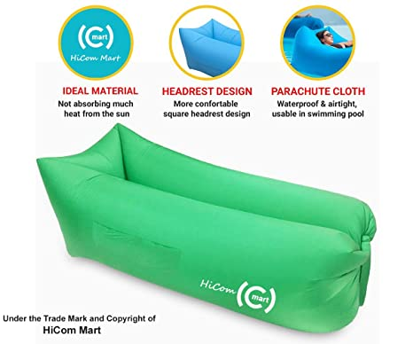 HiCom Mart U2013 Portable Inflatable Lounger, Air Chair, Blow Up Couch,  Inflatable Lounge