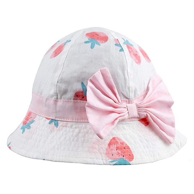 Baby Girl Sun Hat Bowknot - Bucket Hats for Infant Toddler Summer Sun Protection