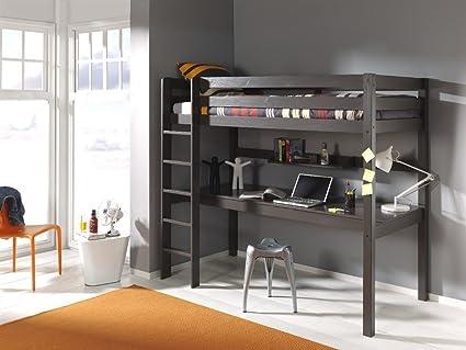 Alfred & Compagnia - Letto a soppalco 90 x 200 con ufficio pin ...