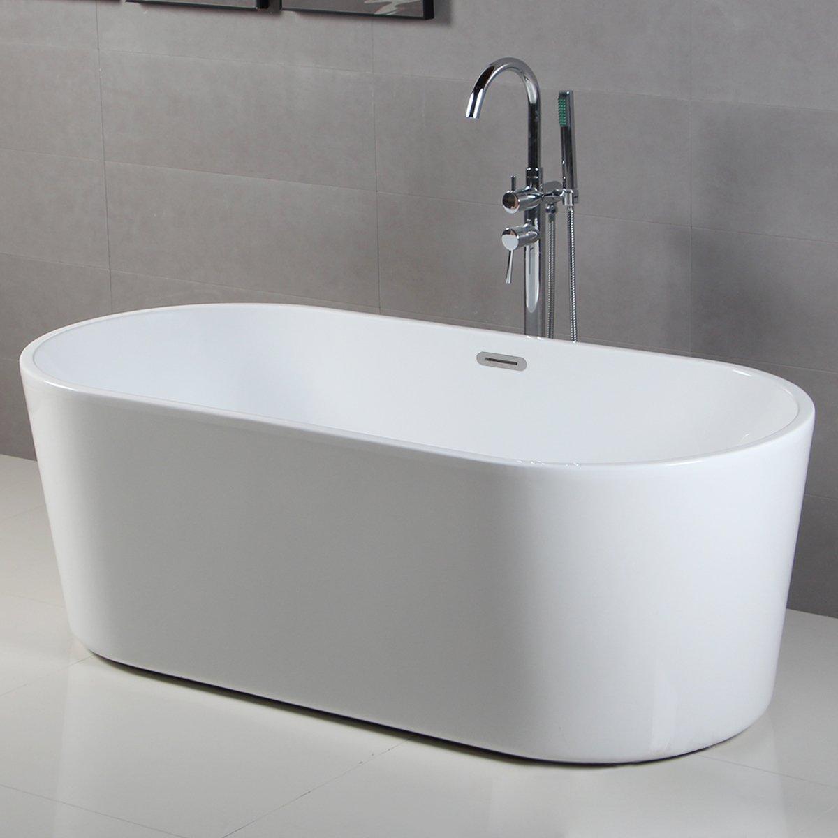 ferdy bathroom acrylic soaking bathtub white color