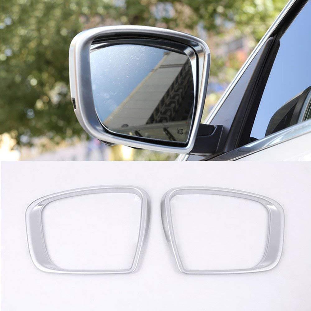 Auto styling ABS plastica opaca argento laterale specchietto retrovisore Frame cover Trim sticker accessori 2PCS carwest