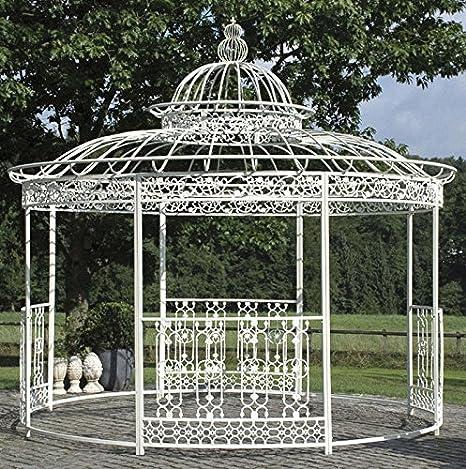 CLP precioso Carpa romanticismo, de lujo de Estable Hierro Cuadrado perfiles, diámetro 3, 45 m, altura de 350 cm Antiguo de Color Blanco: Amazon.es: Jardín