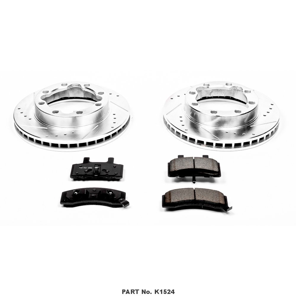 Power Stop K1524 Front Z23 Evolution Brake Kit with Drilled//Slotted Rotors and Ceramic Brake Pads