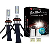 LED Headlight Bulbs Conversion Kit - 4WDKING H11/H8/H9 Fanless Copper Braid Heat Dissipation Super Bright Low Beam Fog Light