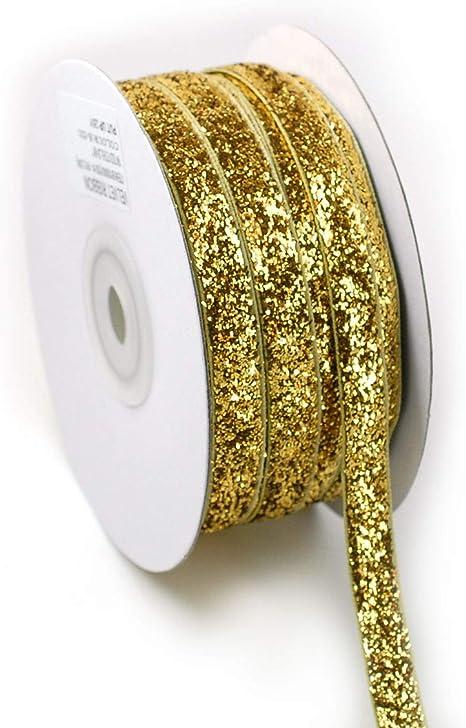 "High Quality 3//8/"" PINK Sparkle Metallic Glitter Velvet Hair Bow Craft Ribbon"
