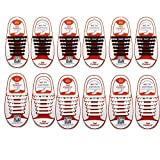 6 Pairs No Tie Shoelaces for Kids, Oumers Upgrade Lazy Tieless Silicone Shoelaces