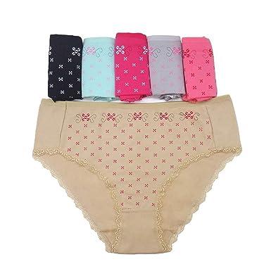 408173bc8ba Magic Day Plus Size 5Pcs Lot New Women s Cotton Panties Girl Briefs Ms Cotton  Underwear