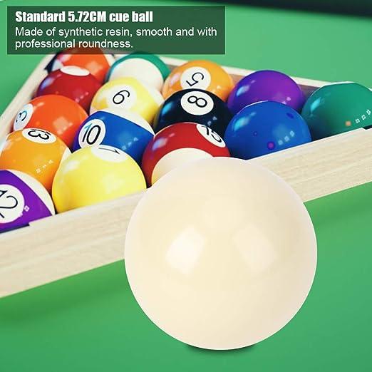 Bola de entrenamiento Pool Cue, 2 piezas Bolas de billar blancas Billard Bola de entrenamiento Pool Pool Billard Juego de bolas de billar Snooker Mesa de billar Bola de entrenamiento Spot Cue