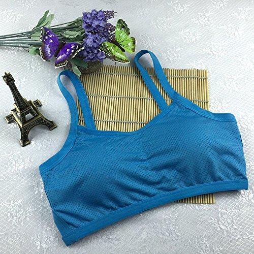 Stretch Yoga A Reggiseno Donne Spalle Blu Saldatura Canotta Di Senza Scoperte Allenamento Kobay Le Imbottito Sport Fitness tUpqvXw