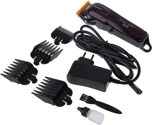 FifijuanC Kemei - Cortapelos eléctrico y lavable, recargable, profesional, afeitadora de pelo sin cable, cortador de pelo de corte rápido: Amazon.es: Salud y cuidado personal