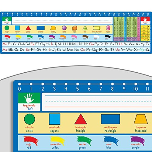 Really Good Stuff Spanish/English 120 Grid with Number Line Self-Adhesive Deluxe Plastic Desktop Helpers - Set of ()