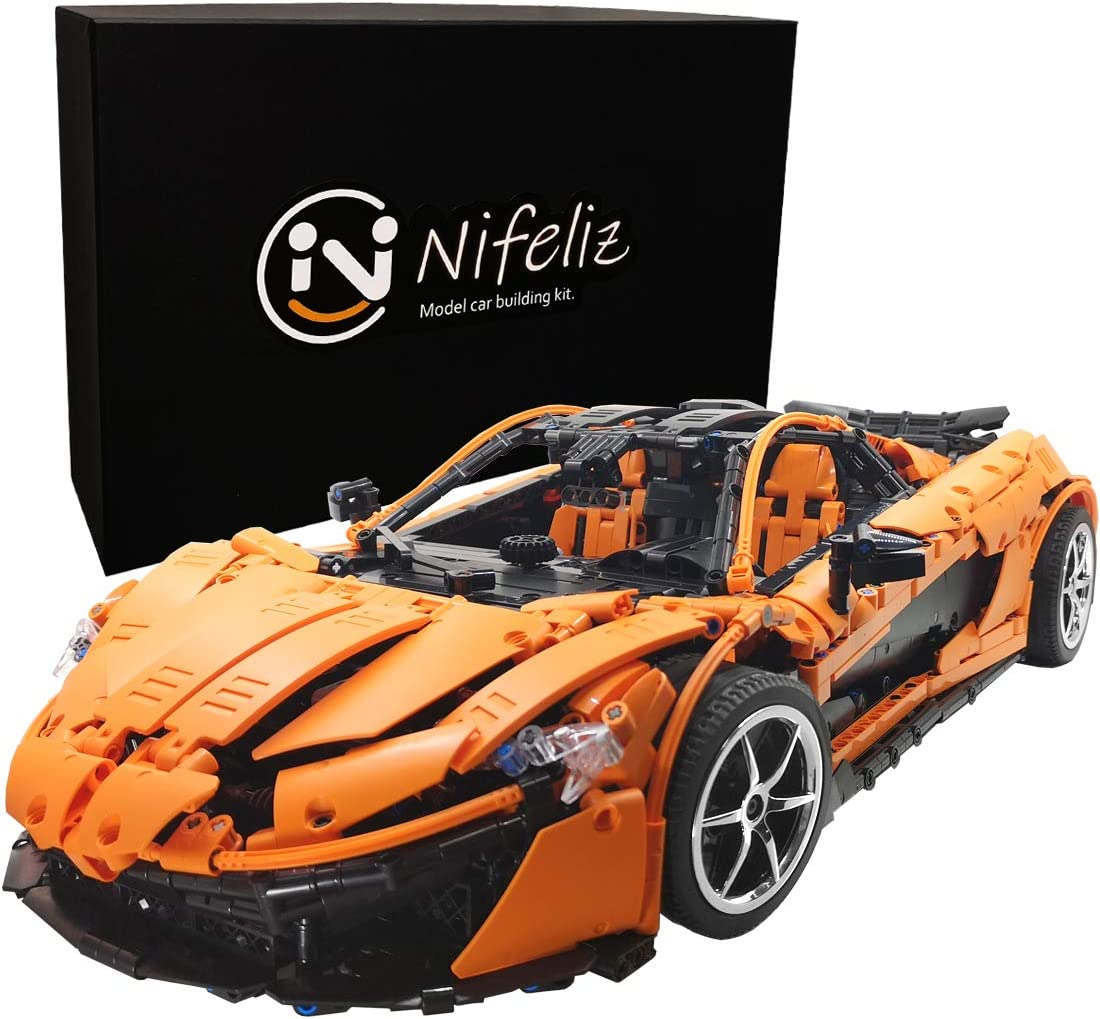 Nifeliz Sports Car P1 MOC Technique Building Blocks and Engineering Toy, Adult Collectible Model Cars Kits To Build, 1:8 Scale Race Car Model (3307 Pieces)
