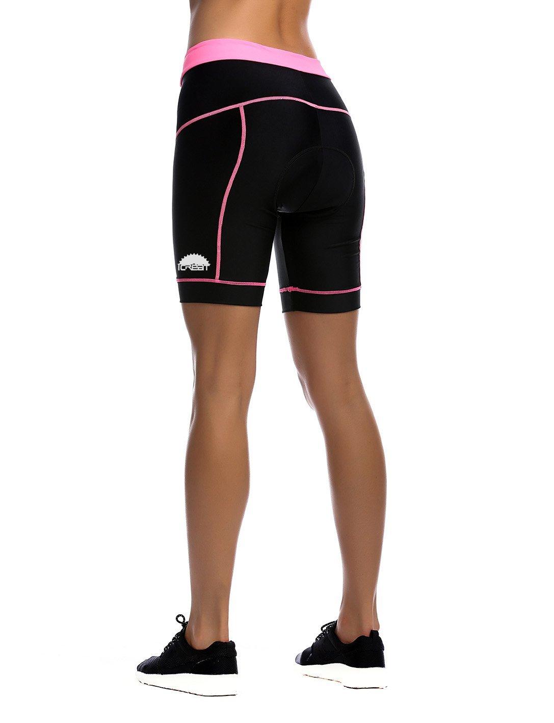iCreat Pantalon de Sport v/élo de Pantalon de Pantalon Court Cycliste pour Homme avec Rembourrage S//M//L//XL//2/x L