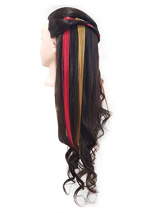 Prime Coloured Hair Highlighter Extensions Clip In Hair Extensions