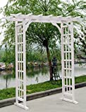 Sunjoy Faux White Wood Arbor