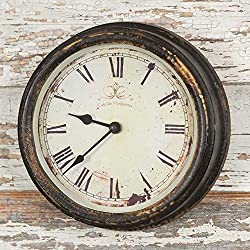 Distressed Vintage Style Wall Clock Country Decor (Cafe)
