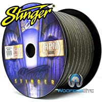 Stinger SXW13G-100 3 AWG Matte Gray 100 Feet Power/Ground Audio Cable Wire