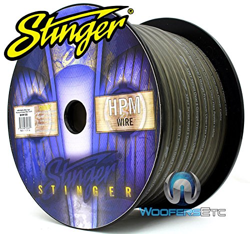 Stinger SXW13G-100 3 AWG Matte Gray 100 Feet Power/Ground Audio Cable Wire by Stinger