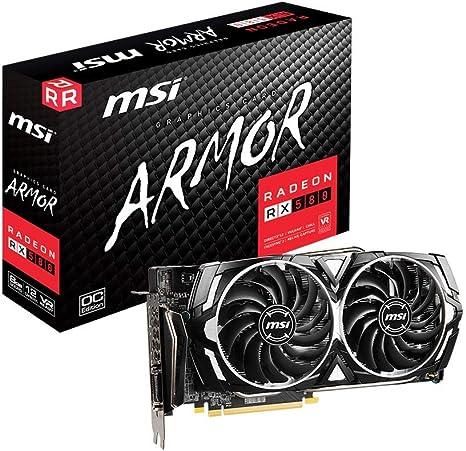 MSI Radeon RX 580 Gaming X 8GB 256-bit GDDR5 Graphics Card VR Ready Barely Used