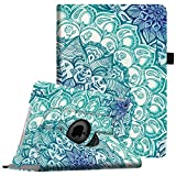 ipad 2 case for girls - Fintie iPad mini 1/2/3 Case - 360 Degree Rotating Stand Case Cover with Auto Sleep / Wake Feature for Apple iPad mini 1 / iPad mini 2 / iPad mini 3, Emerald Illusions