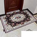 Continental door mats/Door mats/Bedroom bathroom water-absorbing mat/Entrance mat-E 90x90cm(35x35inch)