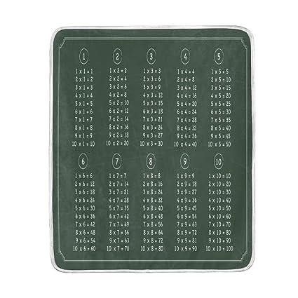 Amazon.com: Multiplication Table Chalkboard Soft Warm Throw ...