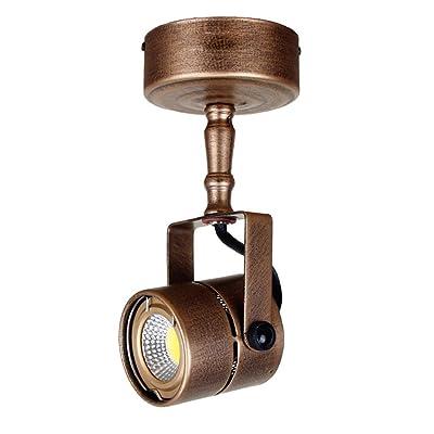 Plafonnier Retro Pole Longue Led Spotlight Salon Eclairage D