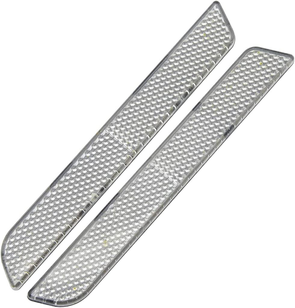 Benlari Clear Saddleg Reflector Inserts Compatible for Harley Davidson Touring Electra Street Road Glide Road King FLHR FLHTC FLHX 1994-2013