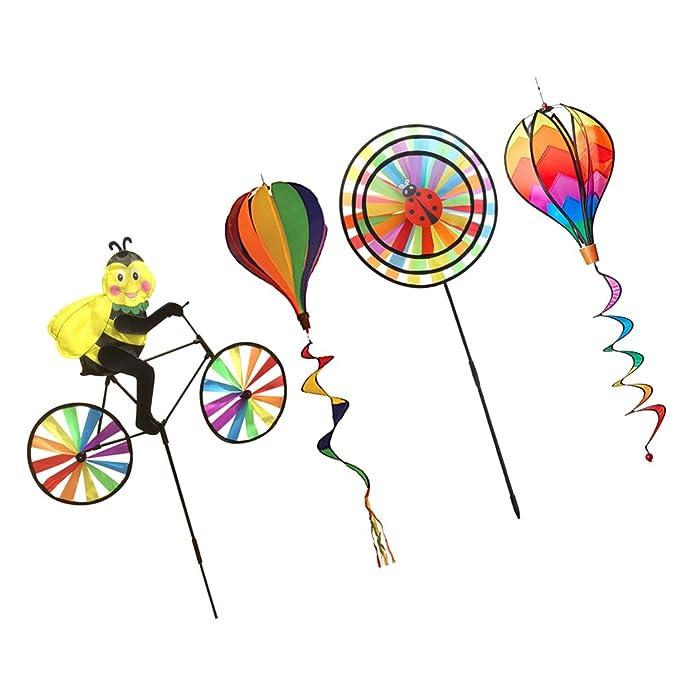 3 Stücke Heißluftballon Windmühle Windsock Garten Hof Rasen Festival