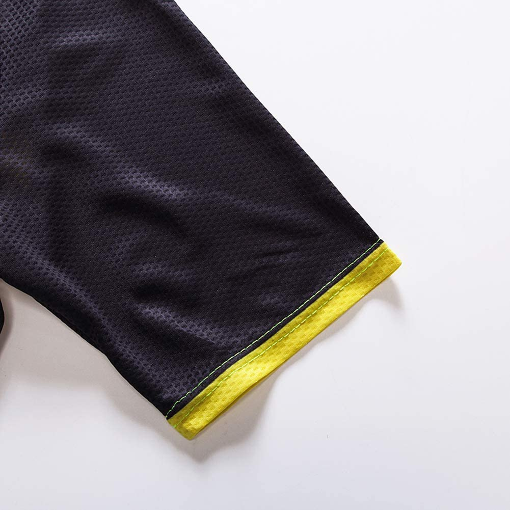 Profi Mannschaft Radfahren Kleidung Einstellen mit 20D Gel Gepolstert Kurze Hose Radfahren Jersey Mannschaft Uniform Rei/ßverschluss Radfahren Kurzarm Einstellen
