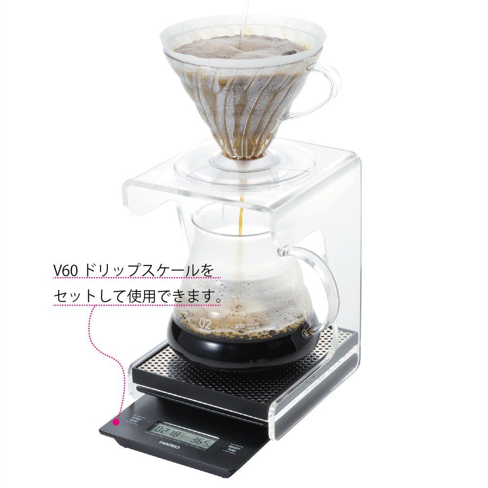 Hario V60 Drip Station Clear Home Kitchen Stailess Scale Vstm 2000hsv