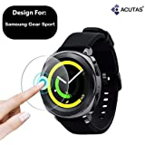 ACUTAS Round Edge Tempered Glass Screen Protector for Samsung Gear Sport Smartwatch