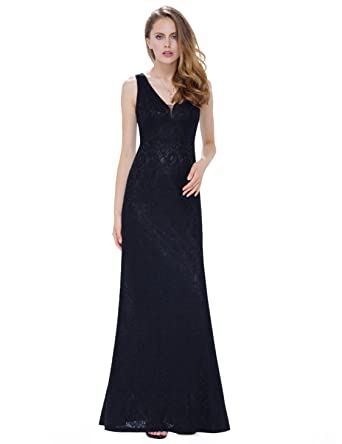 Fitted Floor Length Lace Dress