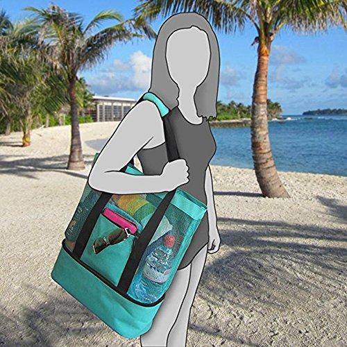 Mort Vert espeedy pique isotherme nique à Pochettes Plage poches portable Mesh alimentaire Refroidisseur sac étanches 6wRRPp