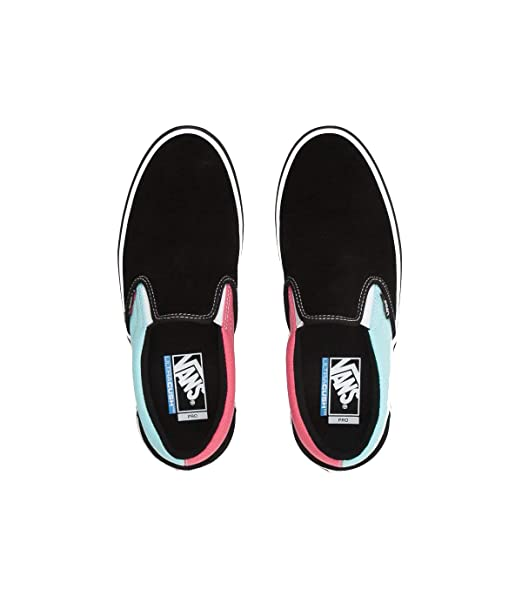 41a38b145 Vans Slip-On Pro (Asymmetry) Black Blue Rose 11.5  Amazon.ca  Clothing    Accessories
