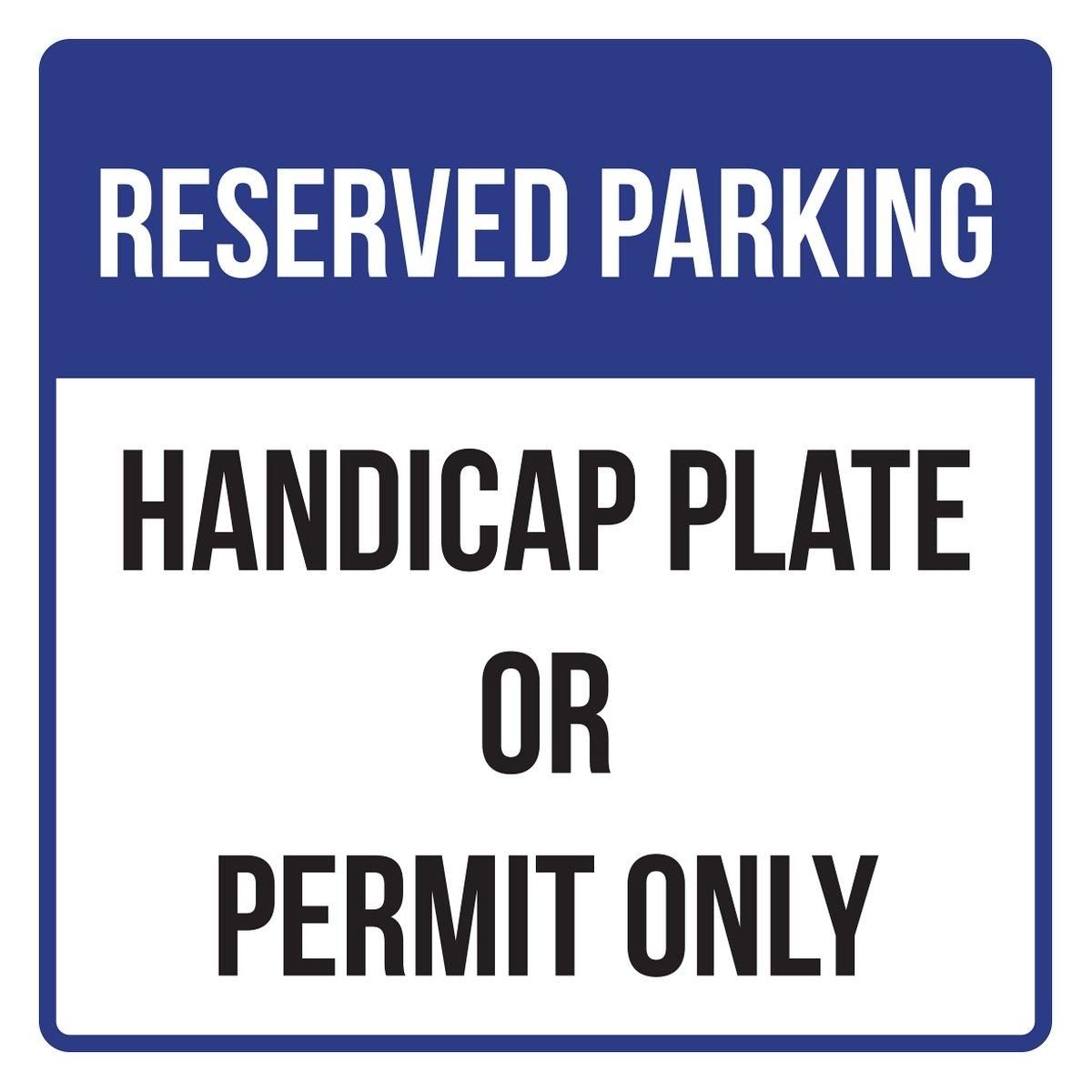 優先順位SeatingゾーンDisabilityビジネスCommercial安全警告Squareサイン – 、12 x 12 12x12 Inch SQ2714-Plastic B0785PWD68