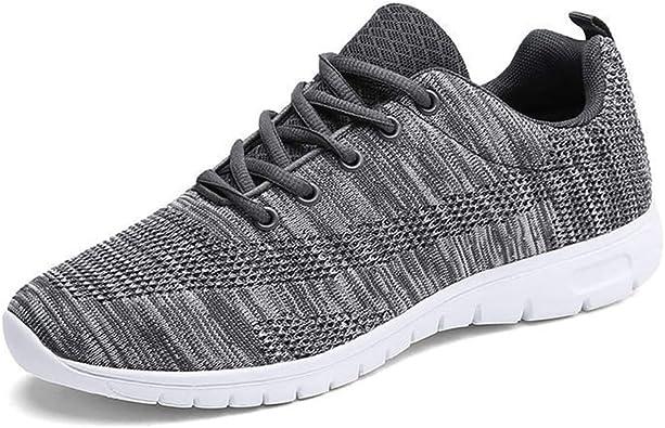 Zapatillas de Deporte para Hombre Ligeras Transpirables Zapatillas de Deporte Superiores con Cordones Zapatillas de Deporte de Malla para Correr: Amazon.es: Zapatos y complementos