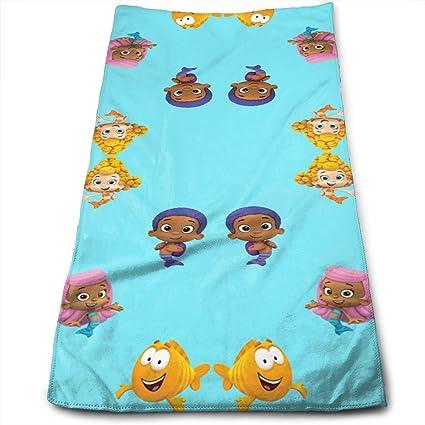 . Amazon com  Klnsha7 Bubble Guppies Soft Cotton Large Hand Towel