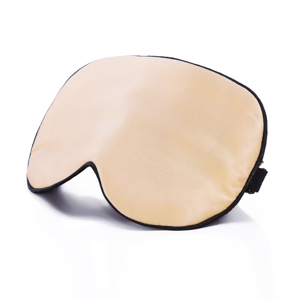 Ethereal Lomoer 100% Natural Silk Sleep Mask & Blindfold with Adjustable Comfortable Strap, Super-Smooth for Nap, Travel, Full Night Sleep (Champagne)