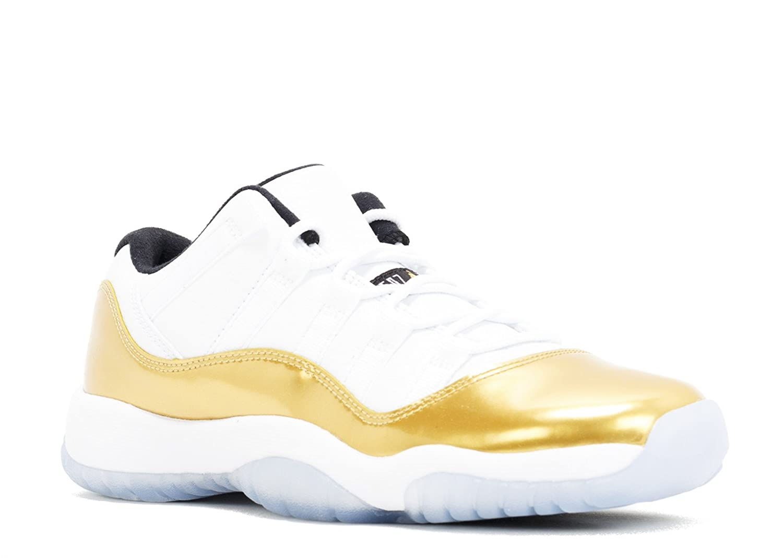 size 40 f4d11 d6275 Amazon.com   Air Jordan 11 Retro Low BG 528896 103 White   Mtlc Gold  Coin-Black (3.5y)   Basketball