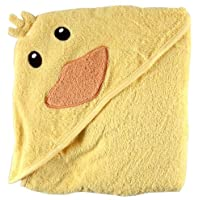 Luvable Friends Animal Face Hooded Towel, Duck, Una talla