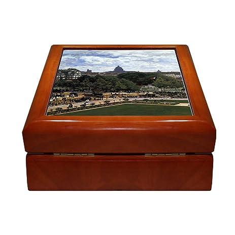Amazoncom The Peach Glass Monet 4x4 Jewelry Box Ceramic Tile