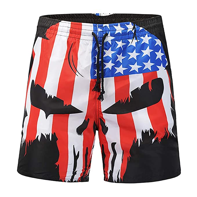 Mens Swim Trunks Ice Creams Pattern Design Quick Dry Beach Board Shorts with Mesh Lining