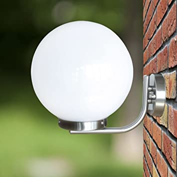 tiauant Casa y jardín Iluminación Iluminación de exterior Aplique de pared en forma de bola, 32 cm lampara de jardin solarNumero de lamparas: 1: Amazon.es: Bricolaje y herramientas