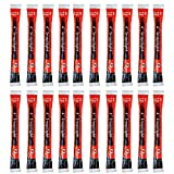 Cyalume SnapLight Red Light Sticks – 6 Inch Industrial Grade, High Intensity Glow Sticks with 12 Hour Duration (Pack of 20)