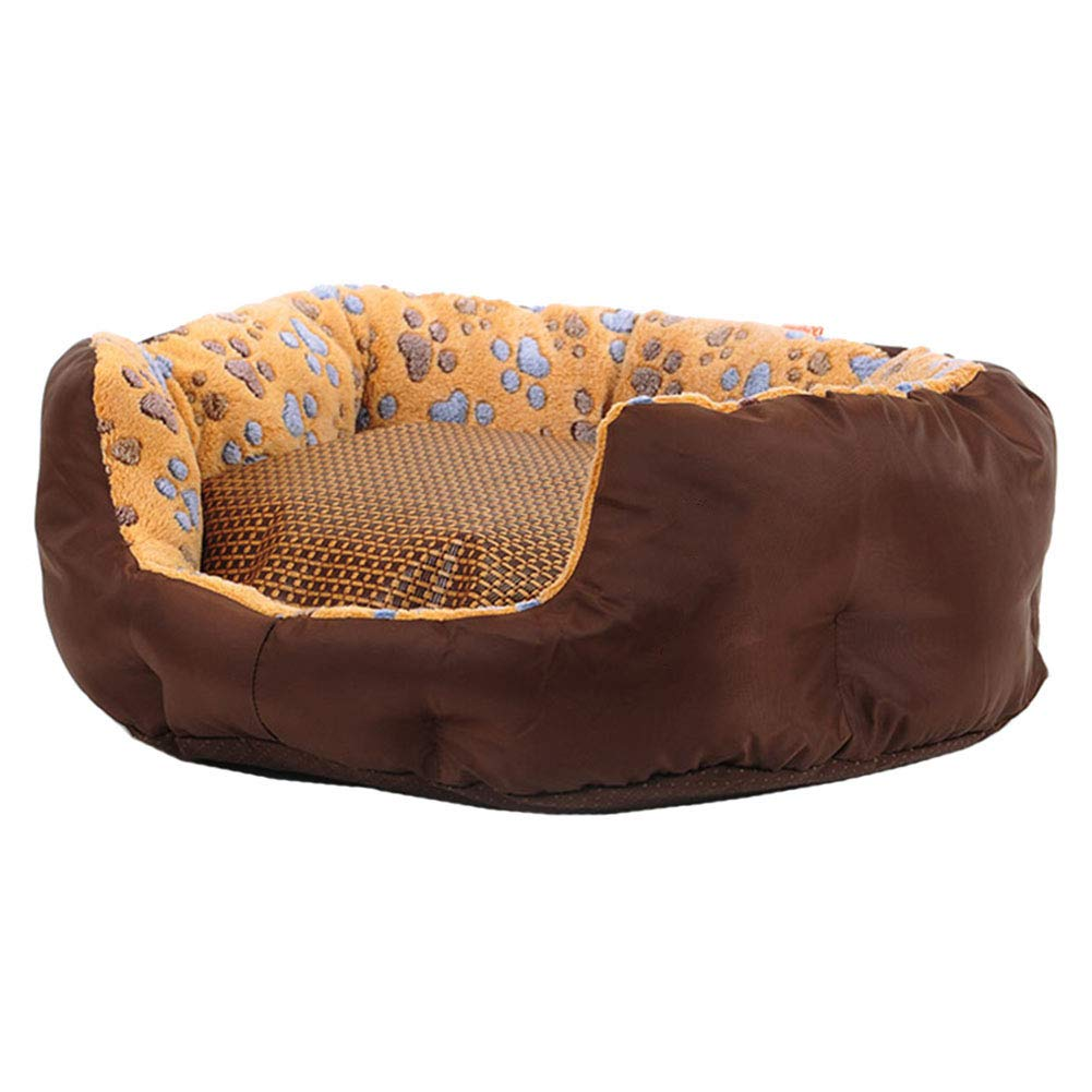 75×70×20cm LXLA Deluxe Soft Washable Basket Pet Dog Bed Cushion with Fleece Lining and Removable Cool Pad (Size   75×70×20cm)
